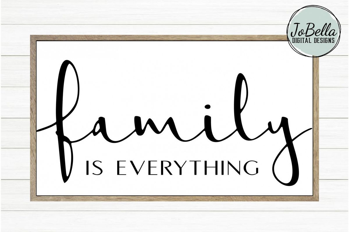 Family Is Everything SVG, Sublimation Design and Printable example image 1