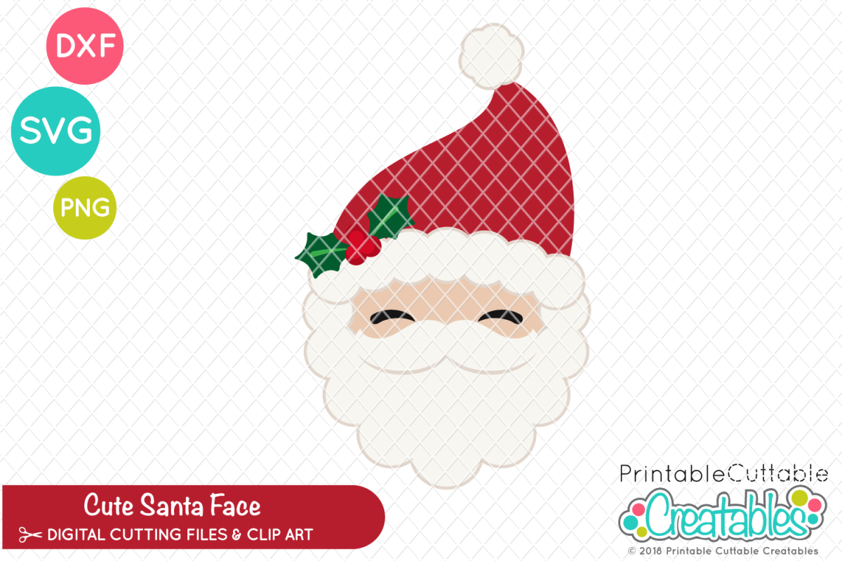 picture relating to Santa Claus Patterns Printable referred to as Lovely Santa Claus Encounter SVG