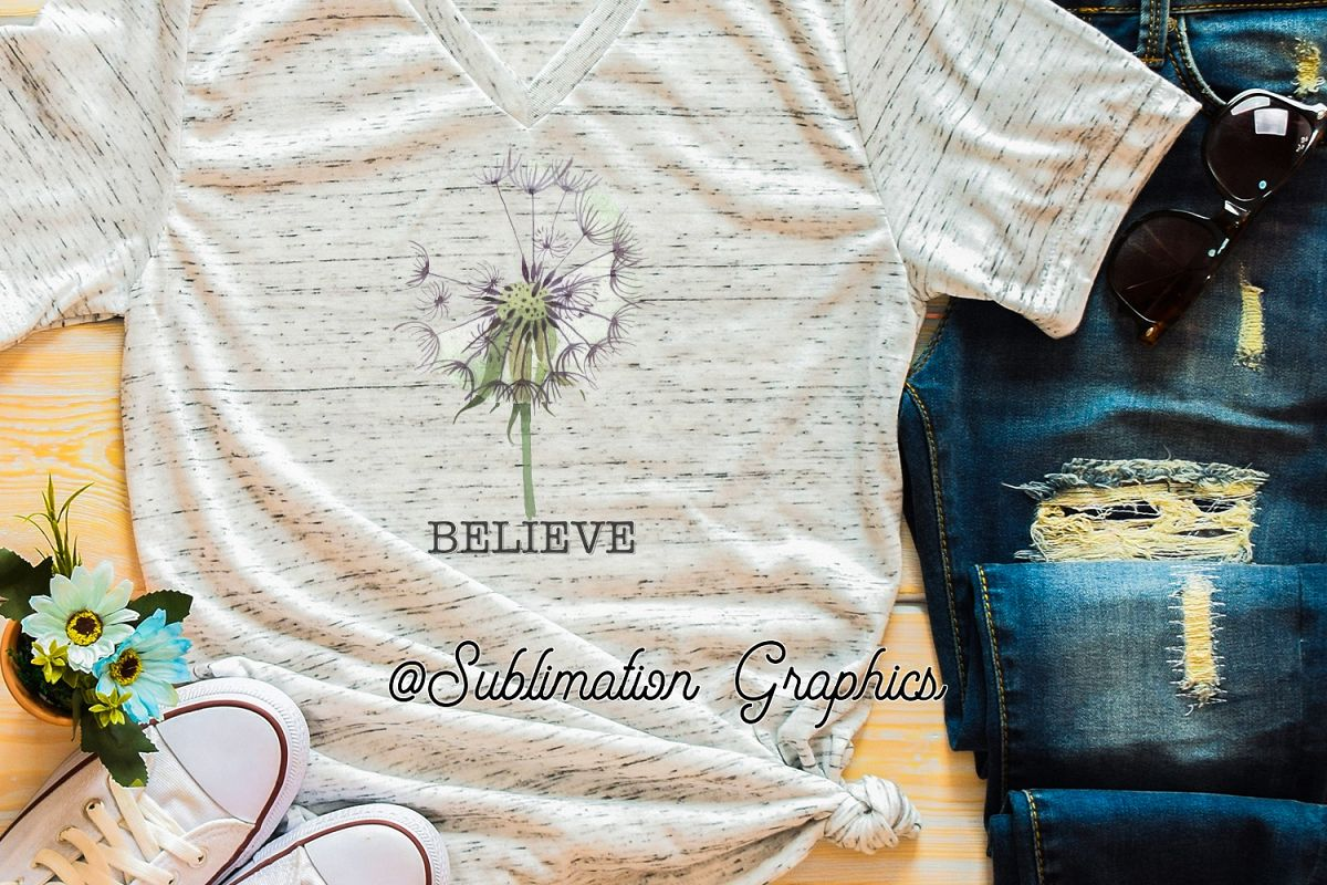 Believe Sublimation Digital Download example image 1