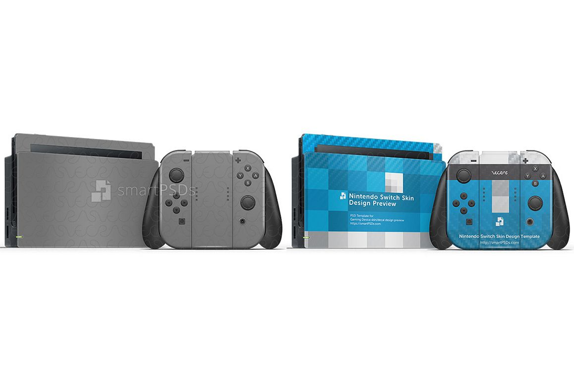 Nintendo Switch Skin Design Template- 7 Views example image 1