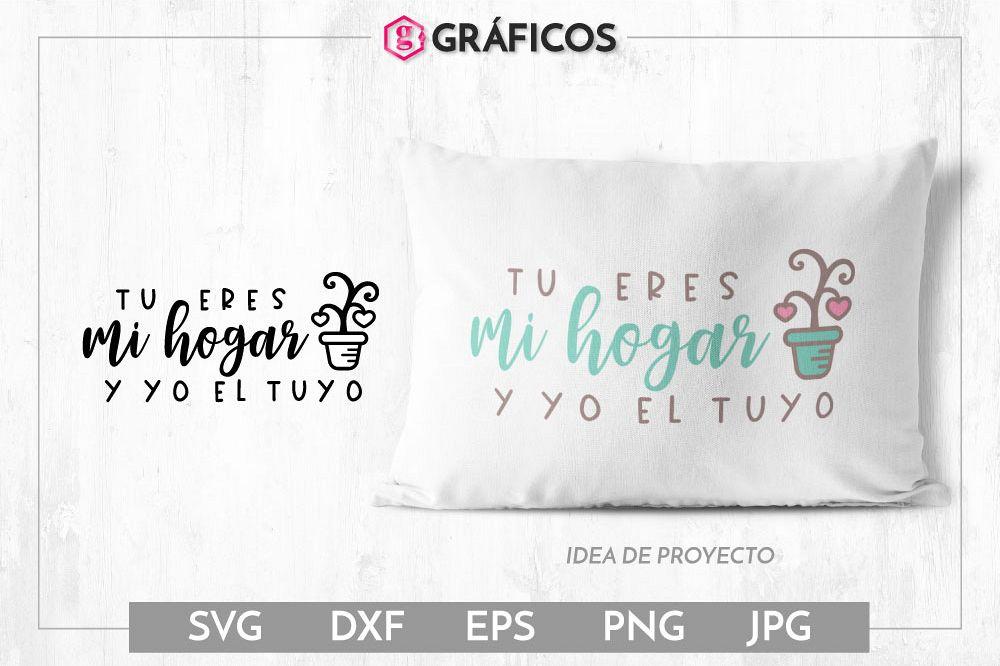 Tu eres mi hogar y yo el tuyo SVG - Diseño San Valentín example image 1