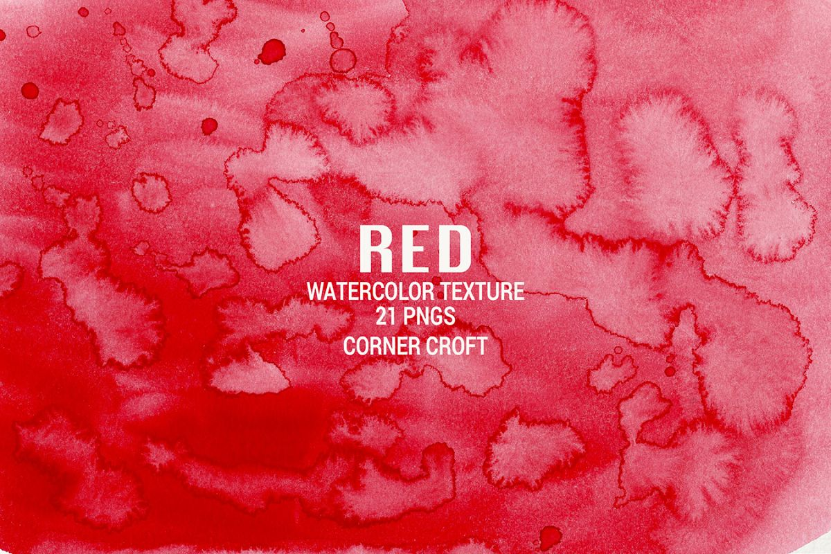 Watercolor Texture Red example image 1