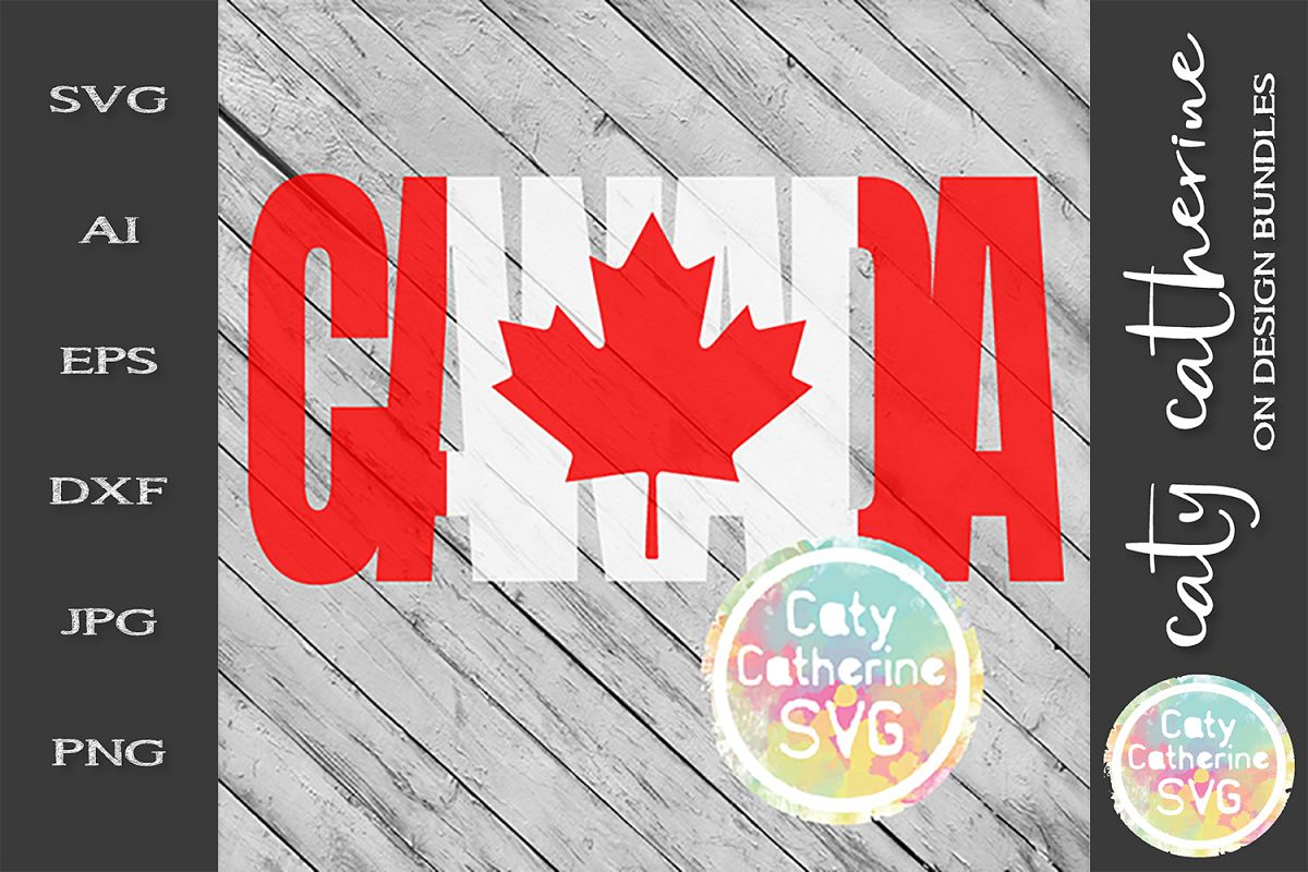 Canada Canadian Flag Canada Day SVG Cut File example image 1