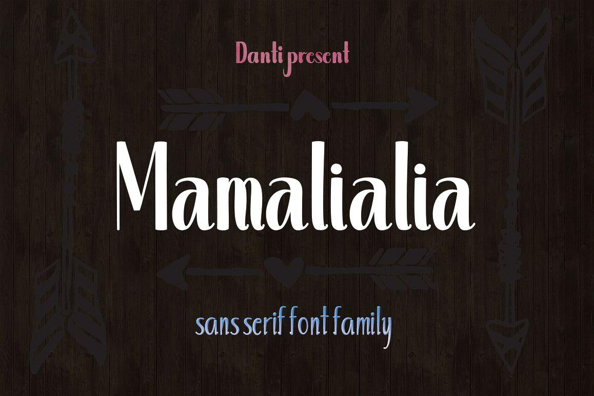 Mamalialia Font Family example image 1