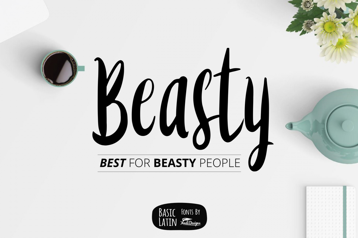 Beasty Fun Font example image 1