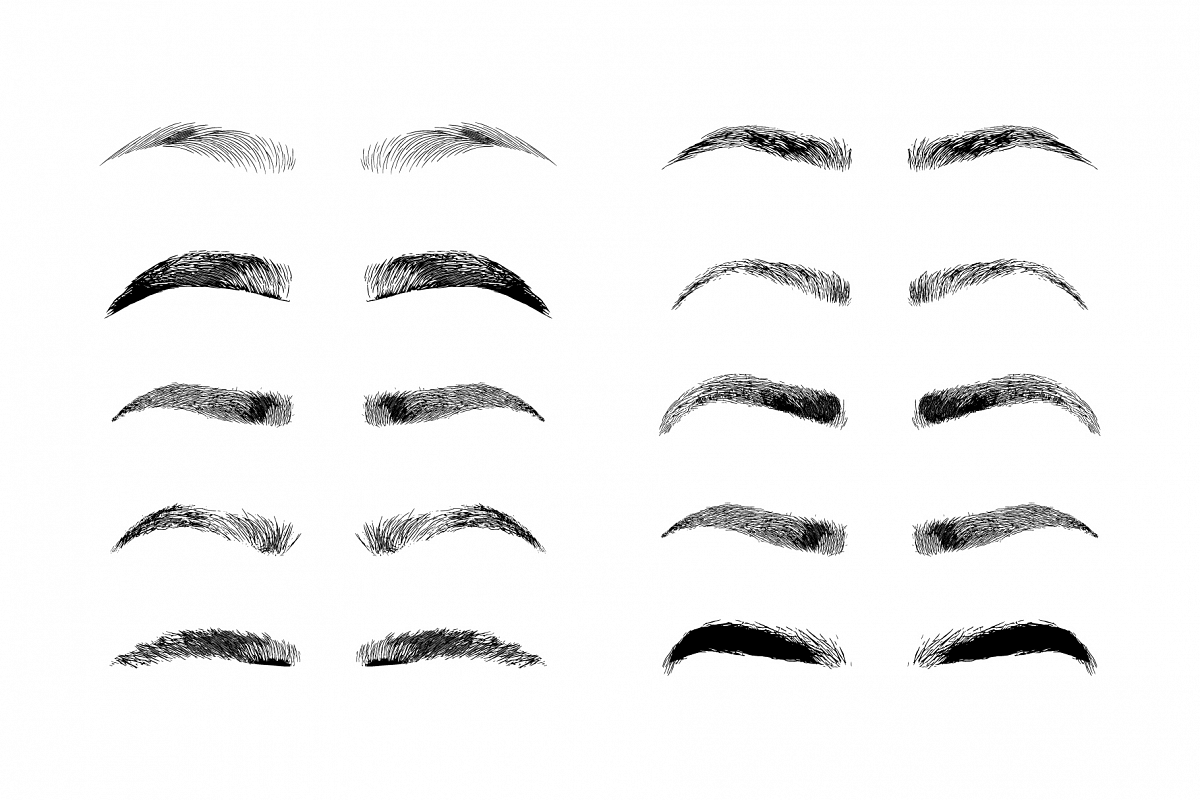 Eyebrow Shapes Various Types Of Eyebrows