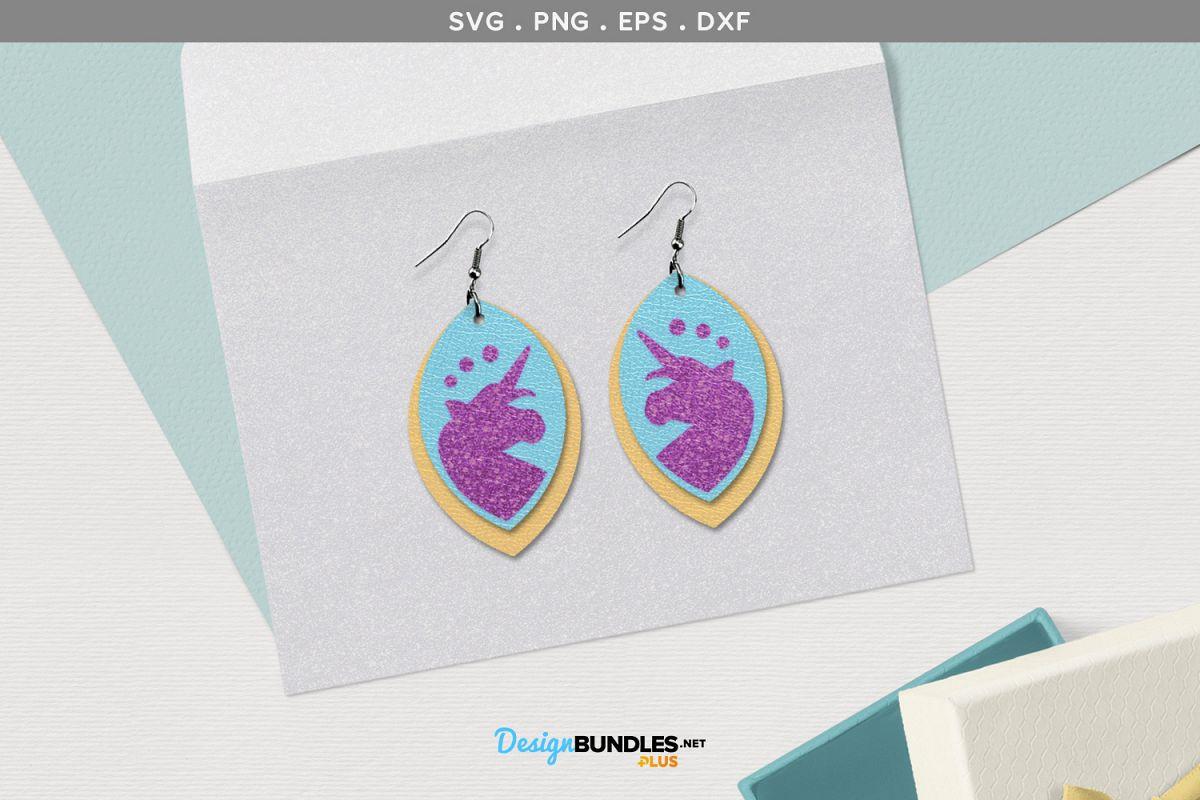 Unicorn Earrings SVG example image 1