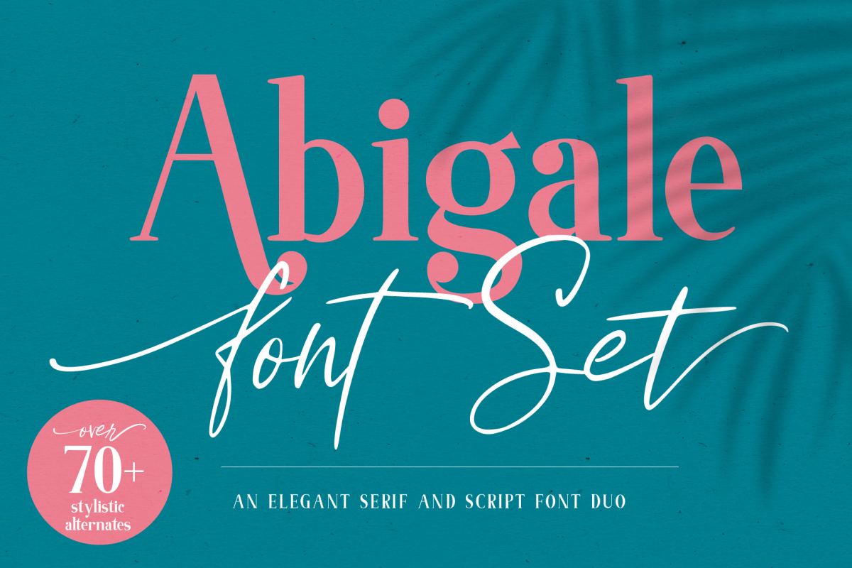 Abigale Font Duo Set example image 1