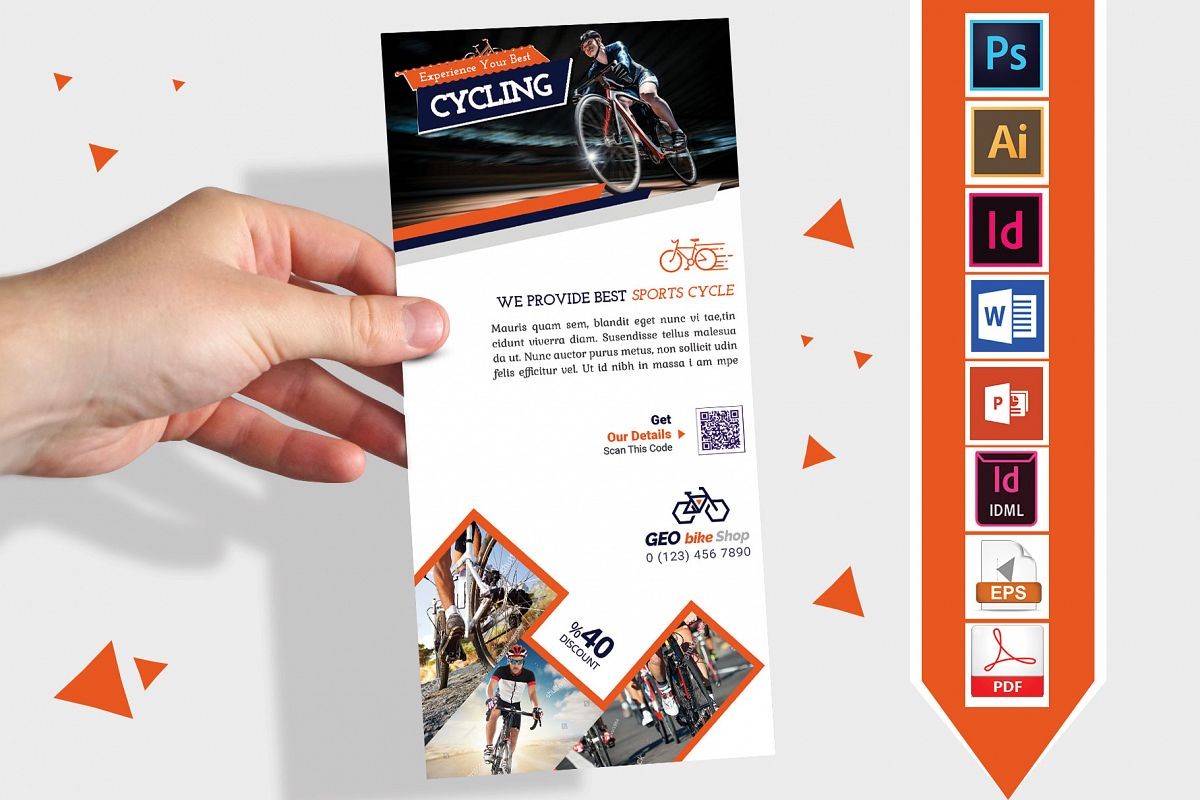 Rack Card | Cycle Shop DL Flyer Vol-01 example image 1