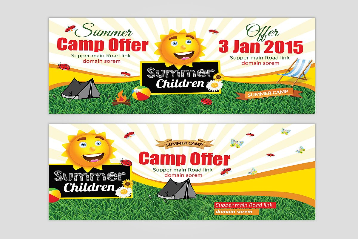 Kids Summer Camp Rack Card Template example image 1