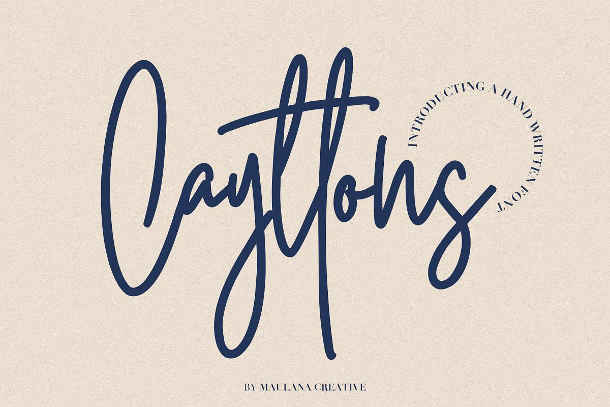 Cayttons Signature Font example image 1