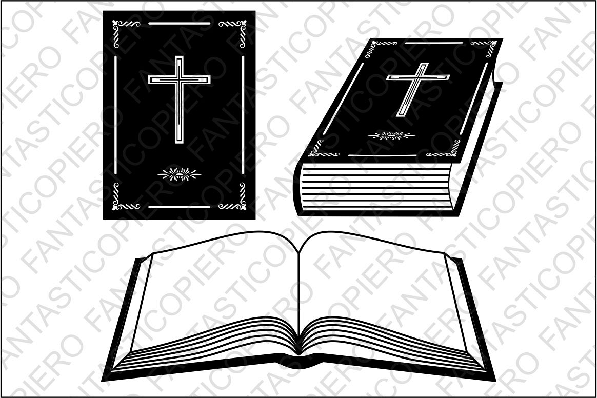 Book Bible SVG files for Silhouette and Cricut. example image 1