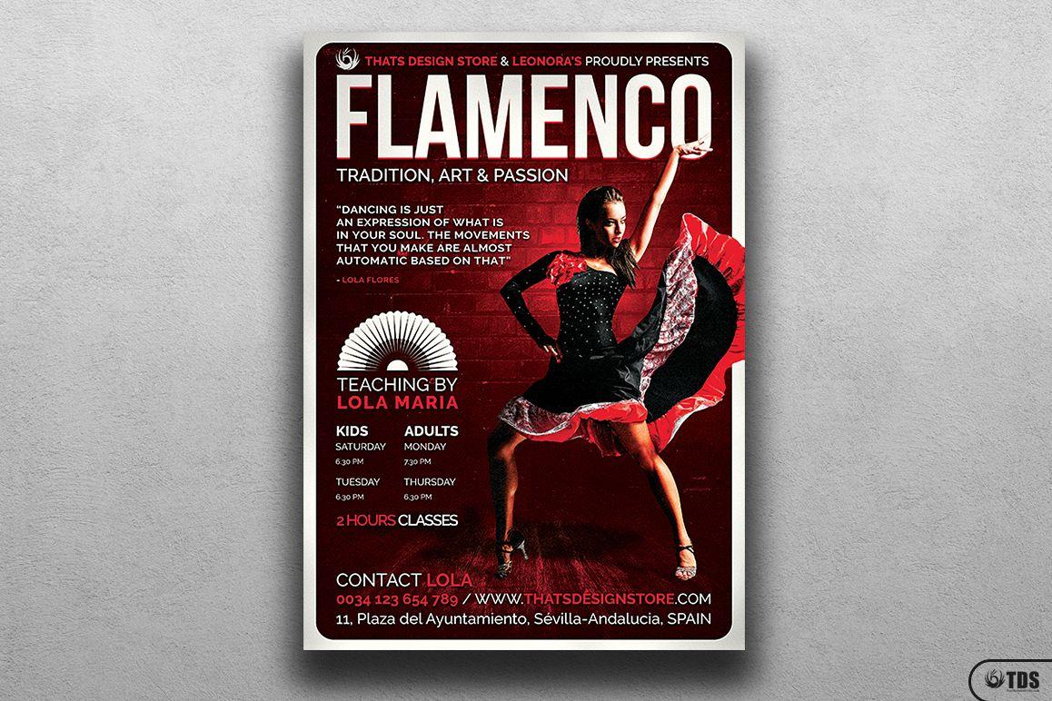 Flamenco Flyer Template V3 example image 1