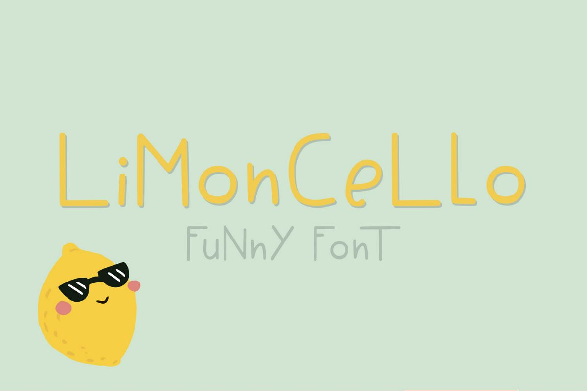 Limoncello funny font example image 1