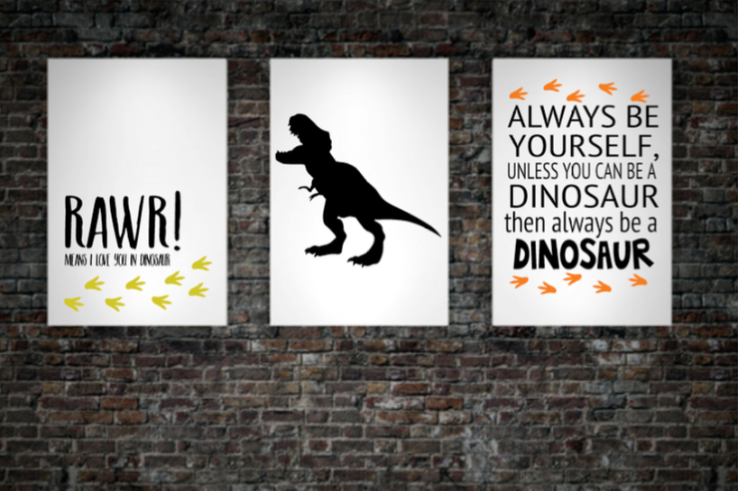 Printable Dinosaur Themed Bedroom