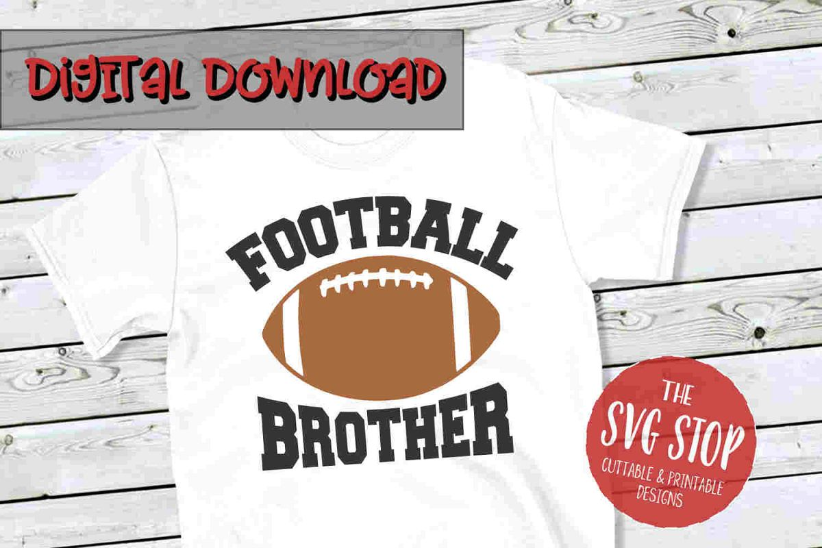 Football Brother -SVG, PNG, DXF example image 1