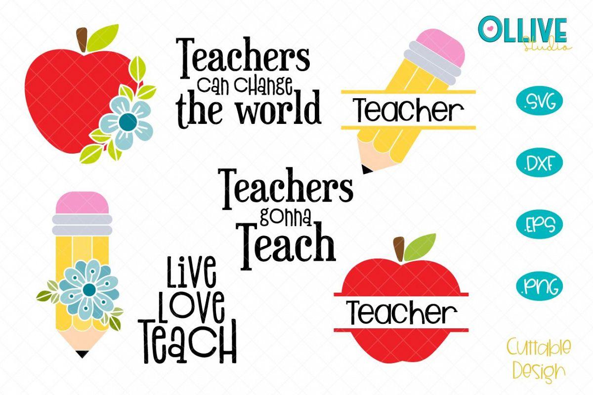 Teacher SVG Bundle, Teacher Quotes example image 1