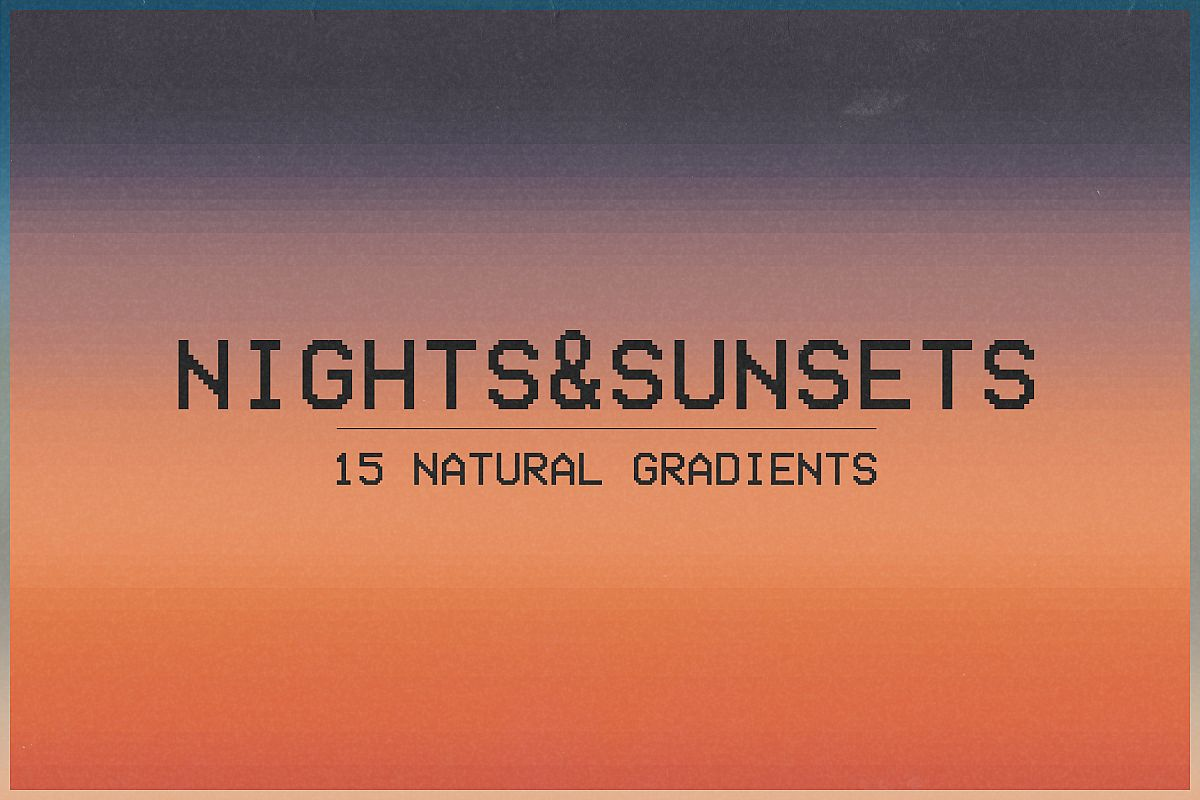 Nights&Sunsets - 15 Natural Gradients Pack example image 1