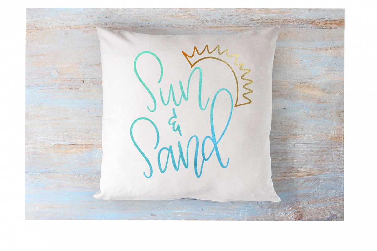Sun & Sand - Hand lettered SVG example image 1