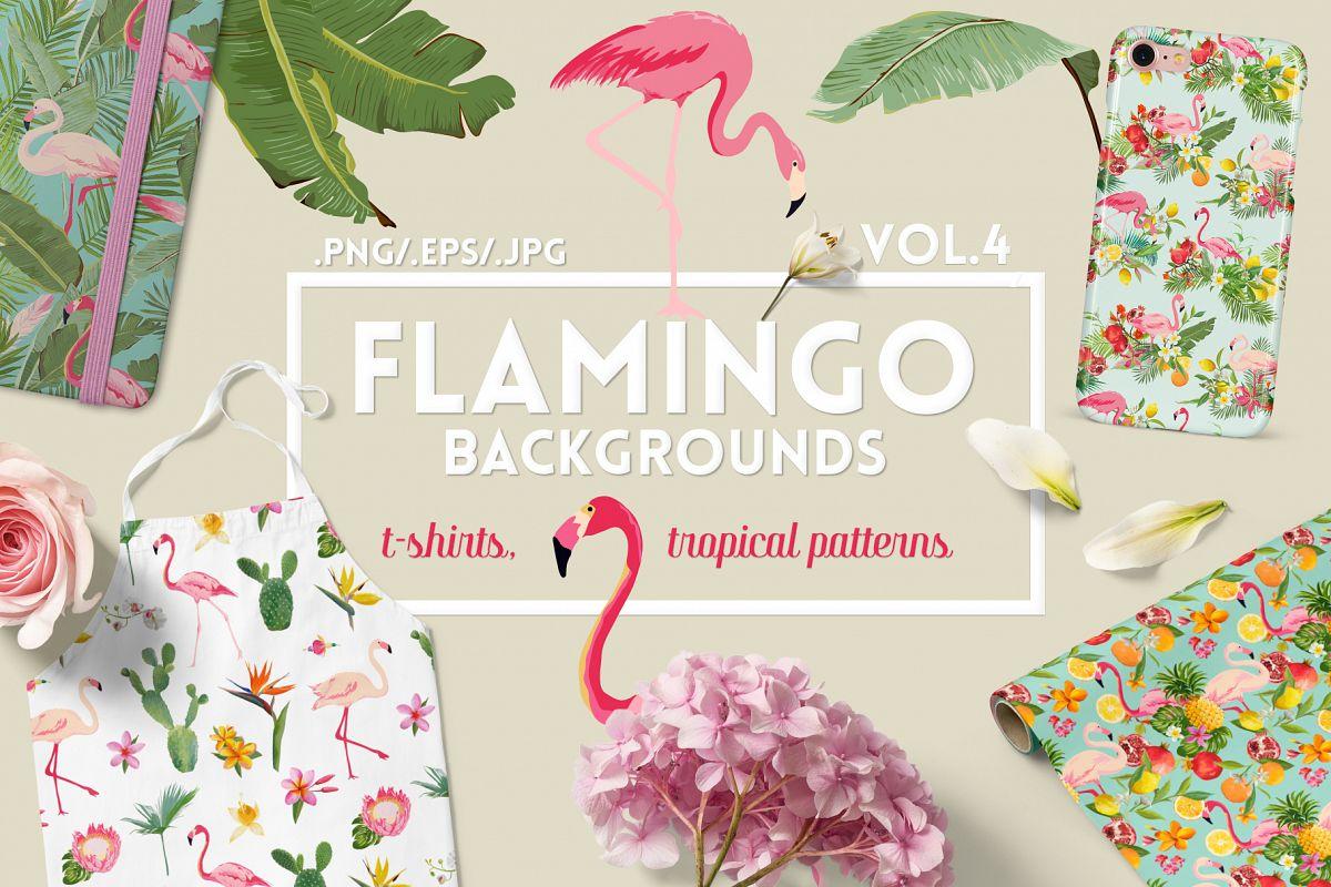 Flamingo Tropical Patterns example image 1