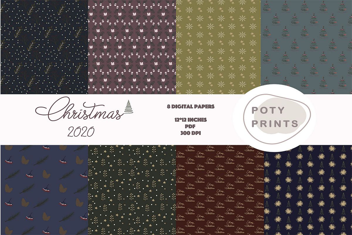 Christmas digital paper example image 1