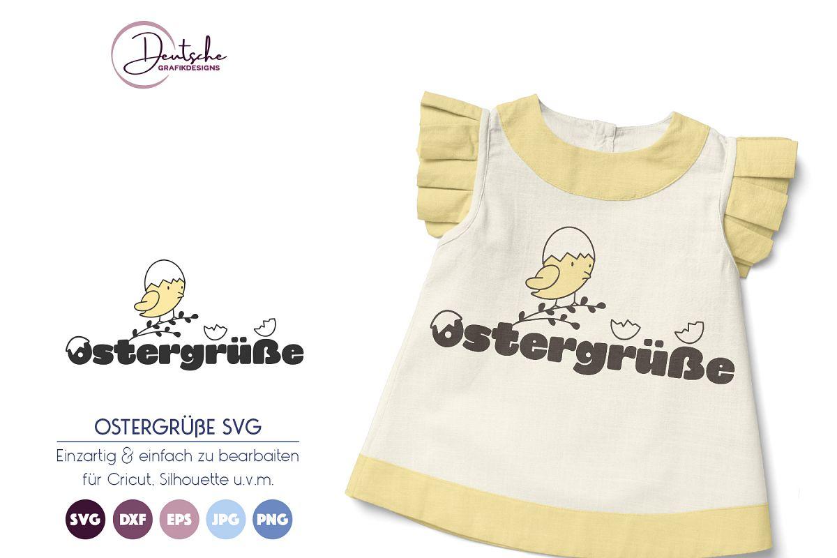 Ostergrüße | Frohe Ostern SVG example image 1