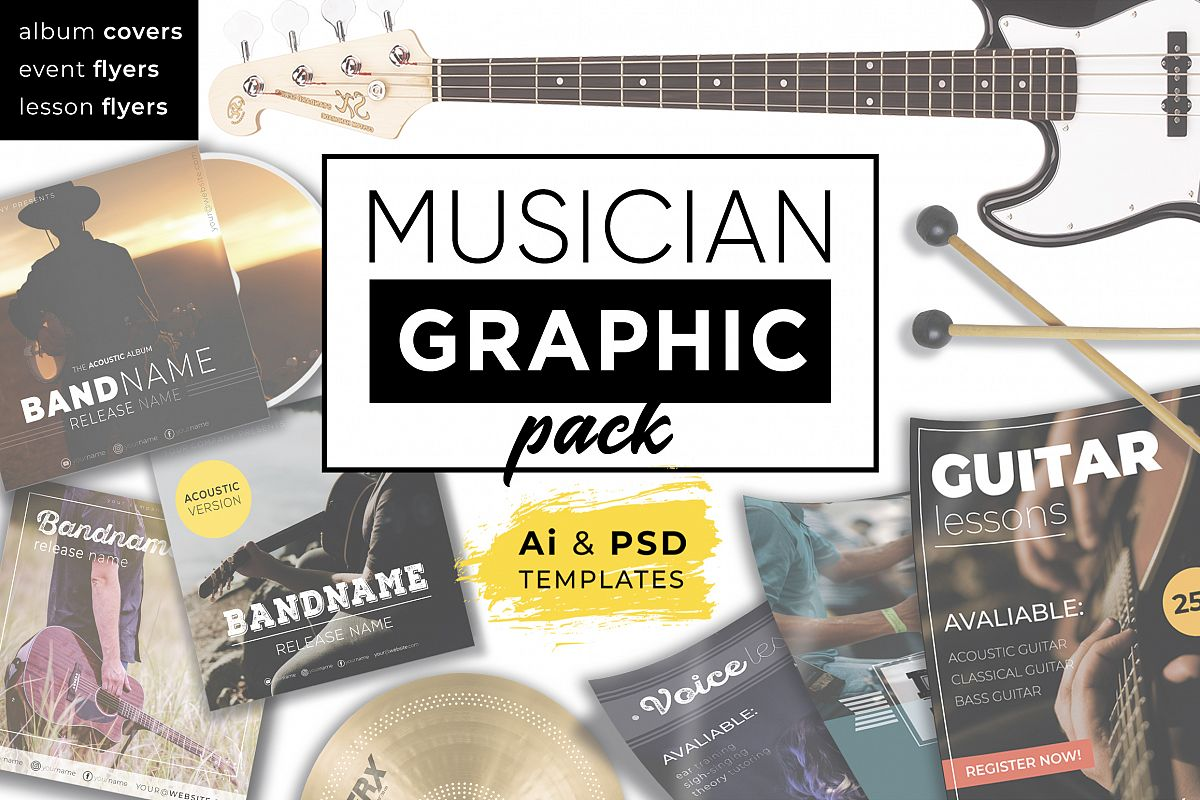 Musician Graphic pack example image 1
