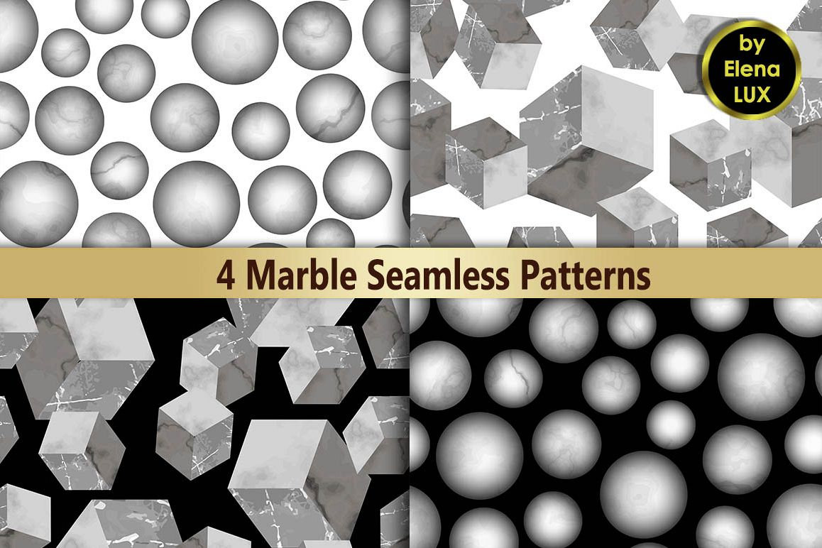 3D Marble Seamless Pattern Set example image 1