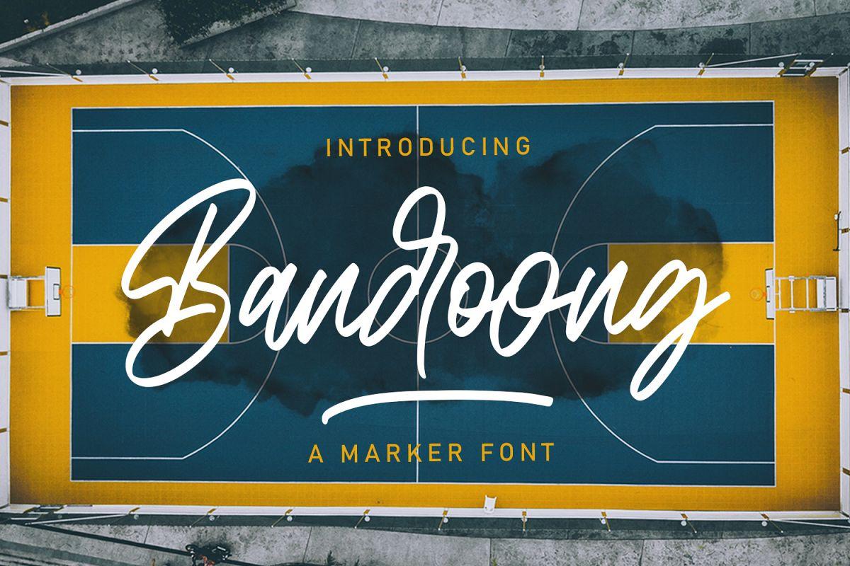 Bandoong | Modern Script Font example image 1