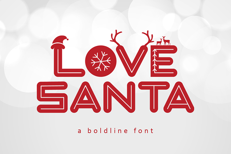 Love Santa - A Special Font For Christmas example image 1