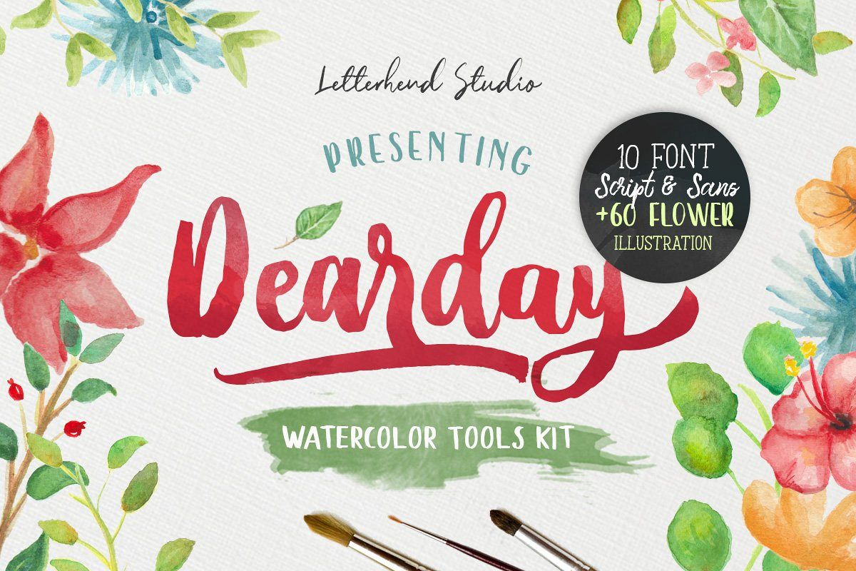 DearDay Watercolor Toolbox example image 1