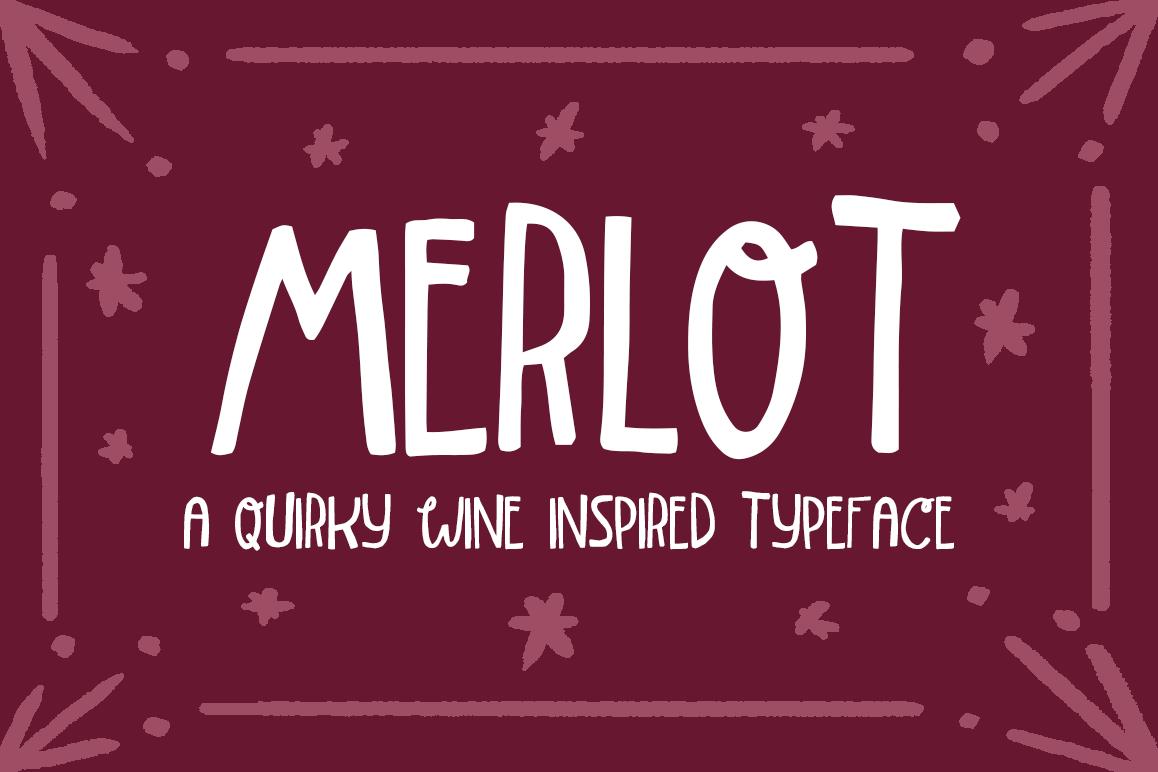 Merlot Font example image 1