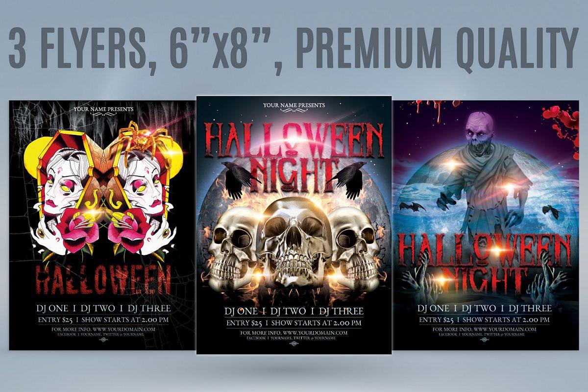 halloween flyer bundle by tmcom design bundles