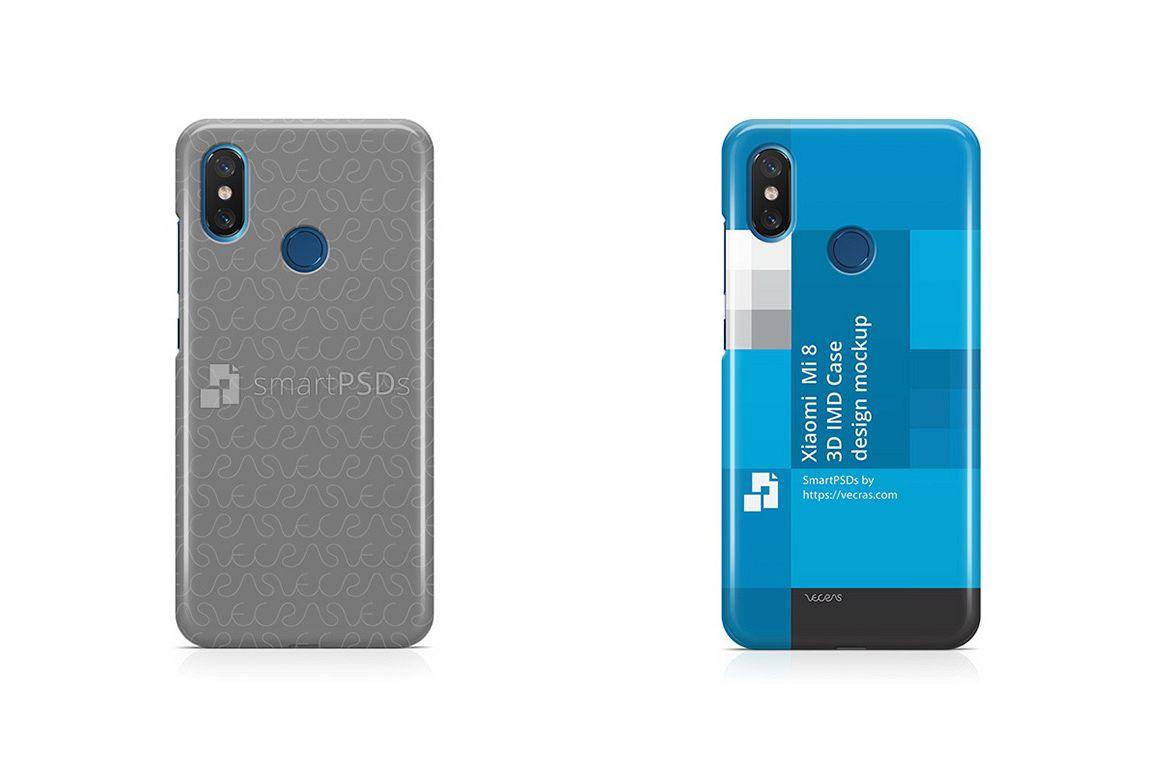 Xiaomi Mi8 3d IMD Case Design Mockup 2018 example image 1