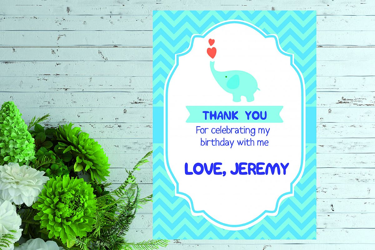 Birthday thank you card example image 1