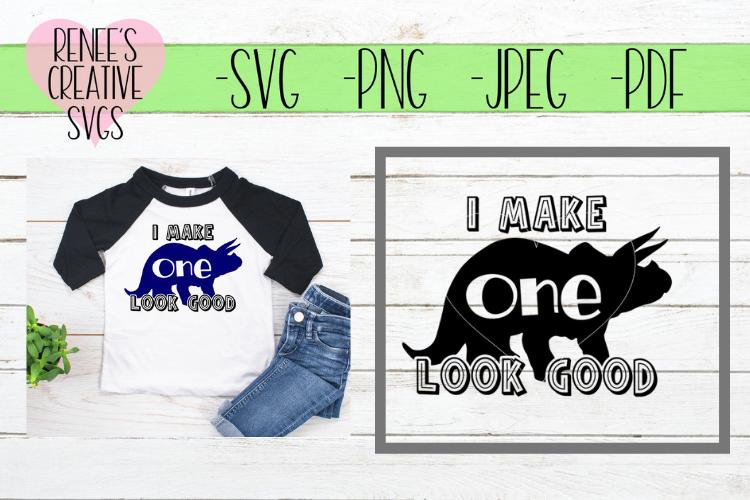 I make 1 look good | Birthday | SVG Cutting File example image 1