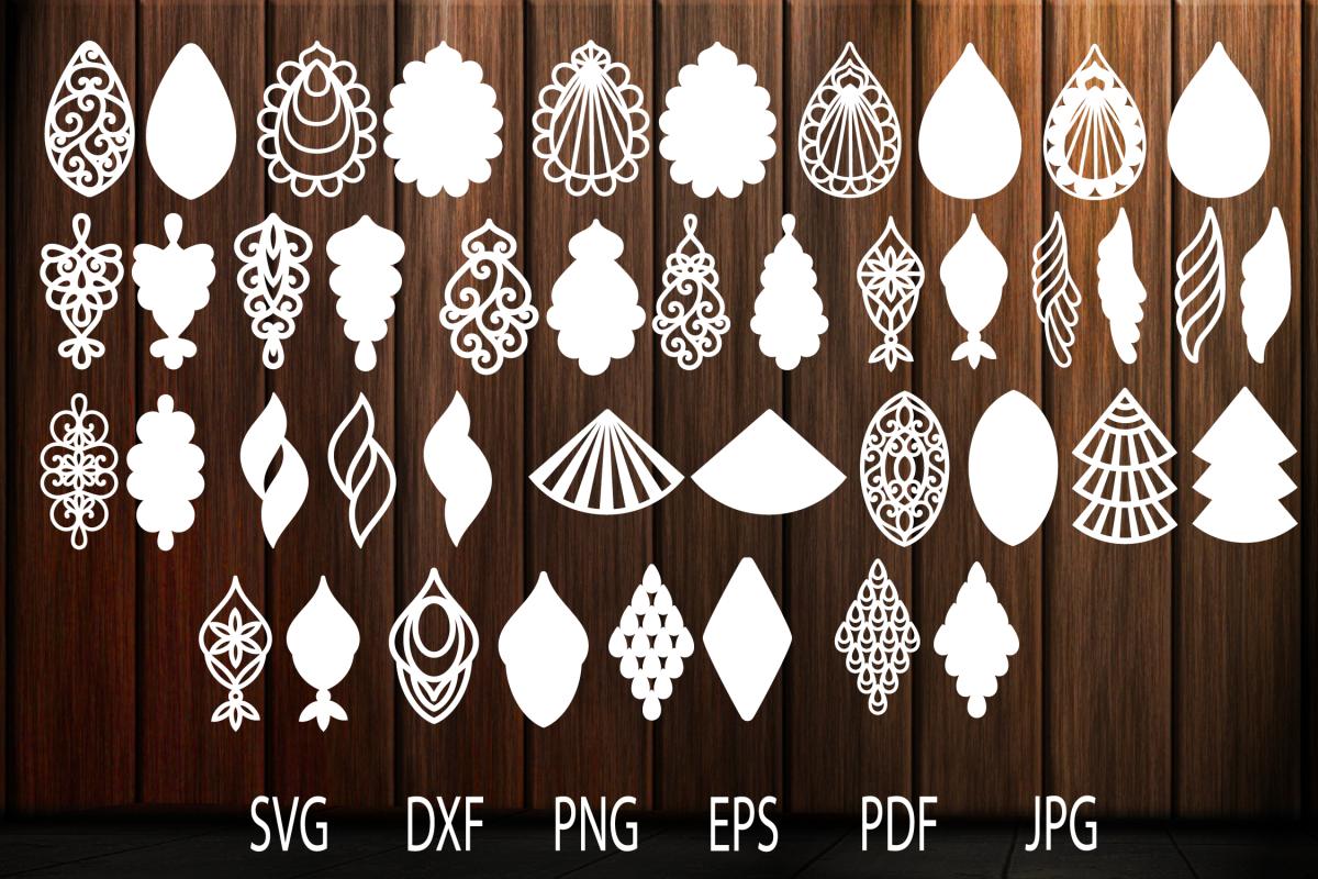 Earrings Svg Teardrop Earrings Earrings Template