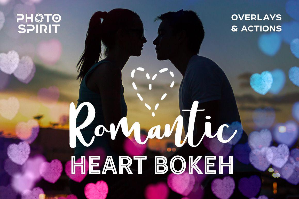 Romantic Heart Bokeh Photo Overlays example image 1