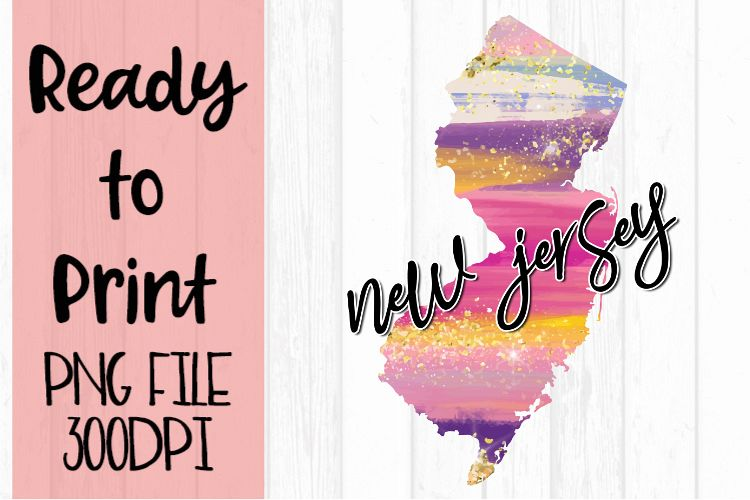 New Jersey Painted States Ready to Print example image 1