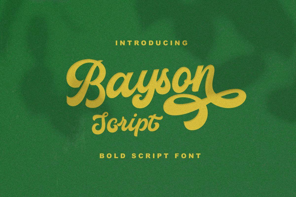 BAYSON SCRIPT example image 1