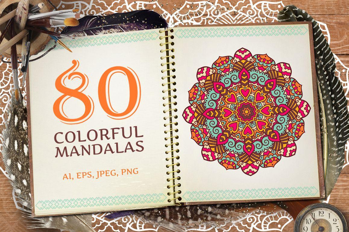 80 Vector Mandalas Vintage Ornament example image 1