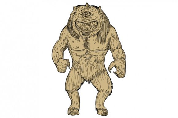 Cyclops Standing Drawing example image 1