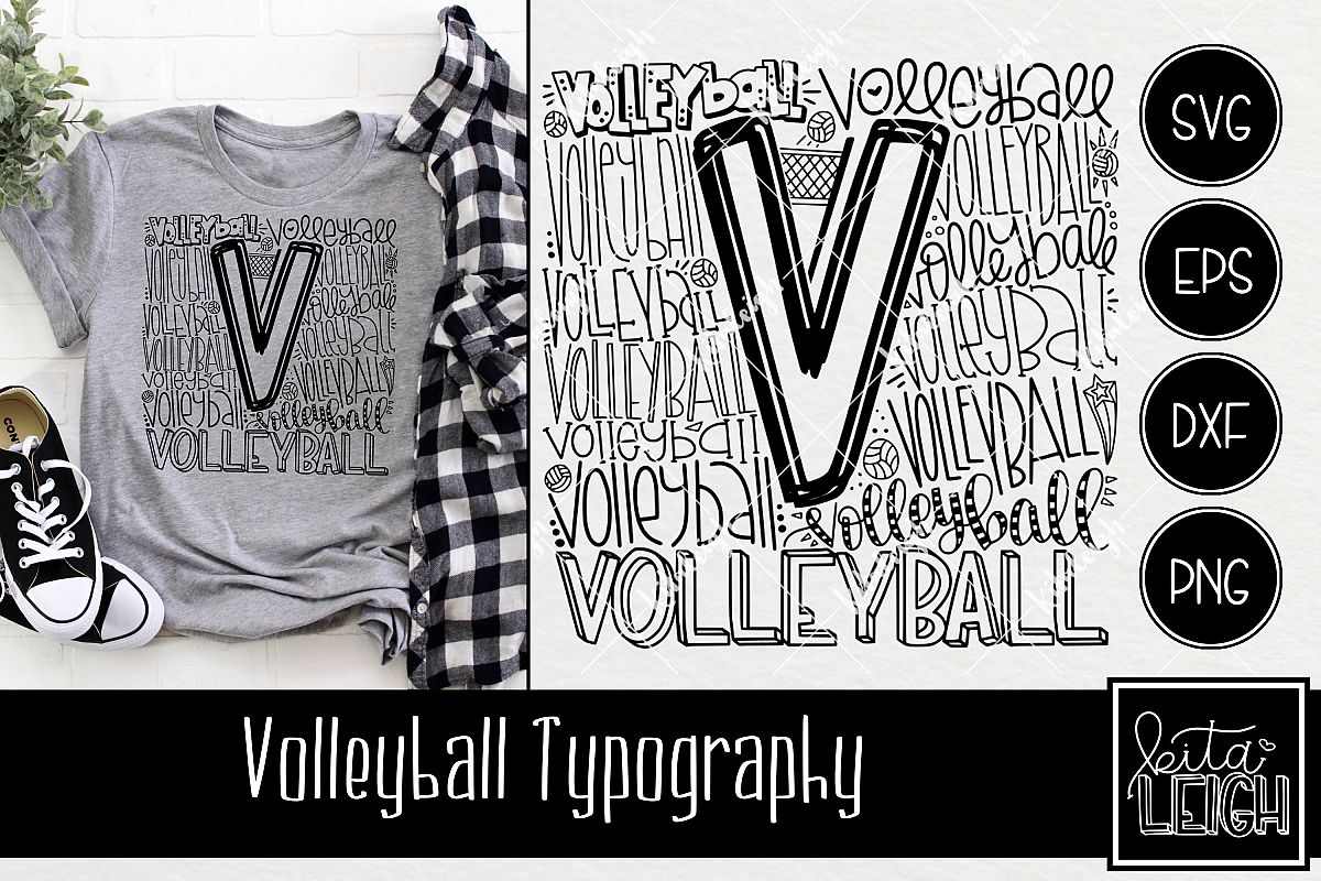 Volleyball Typography example image 1