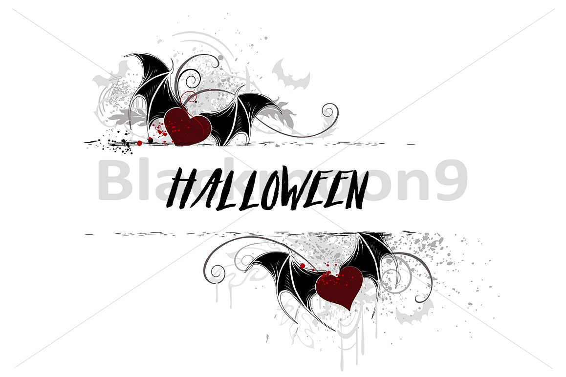 Banner with Vampire Heart example image 1