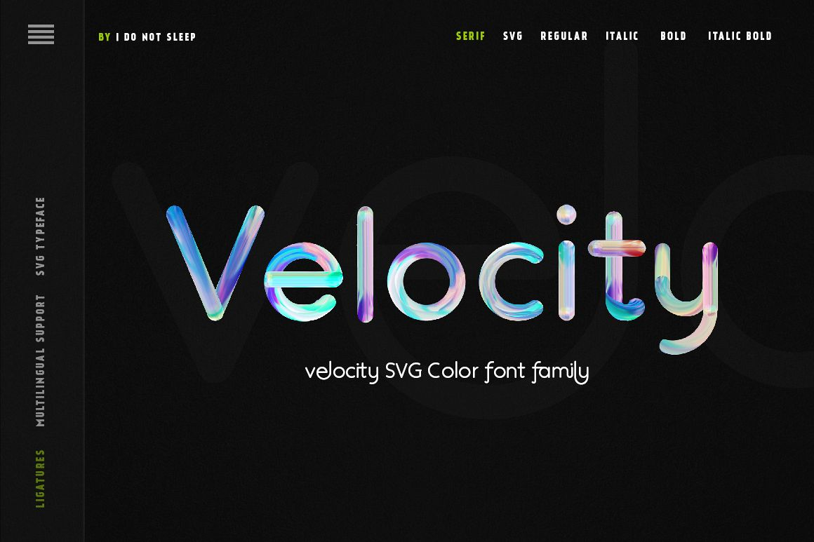 Velocity SVG Font example image 1