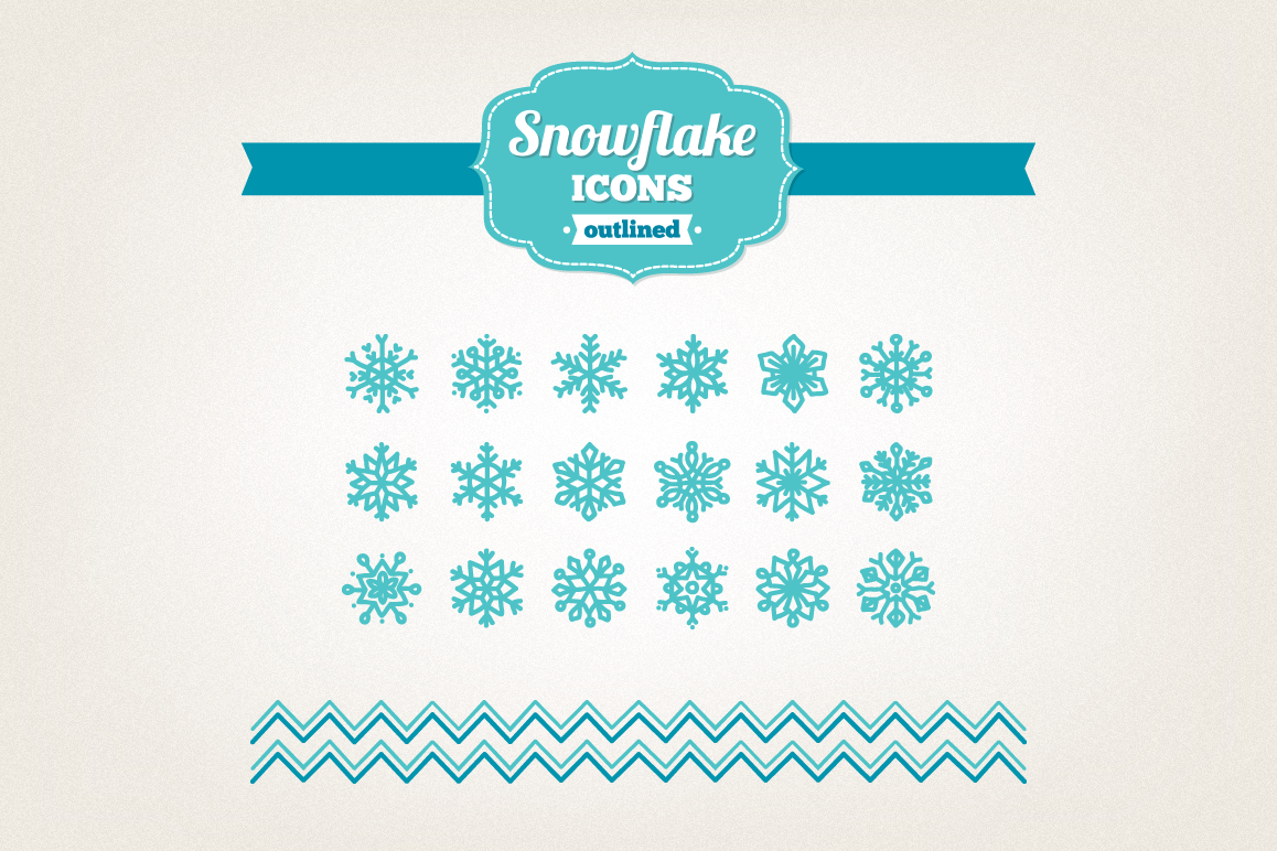 Hand Drawn Snowflake Icons example image 1
