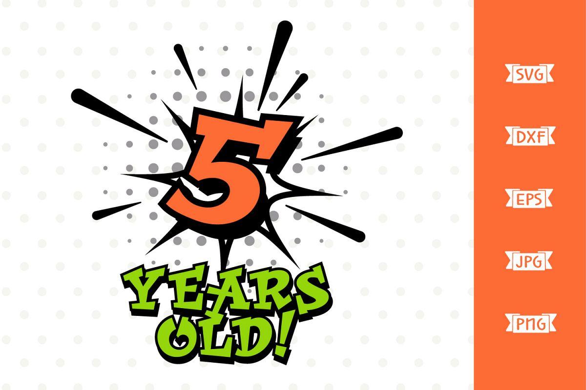 Boys 5th Birthday Superhero SVG file example image 1