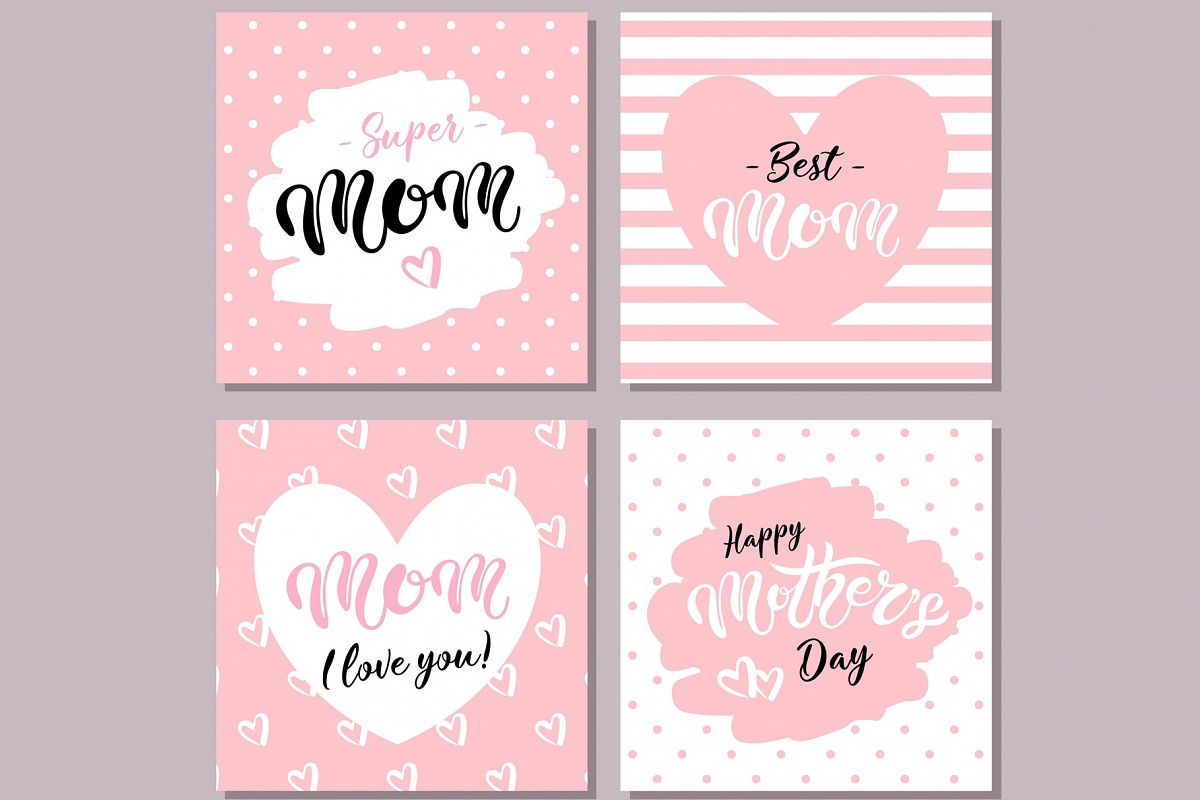 Happy Mother's Day Cards. Pink example image 1