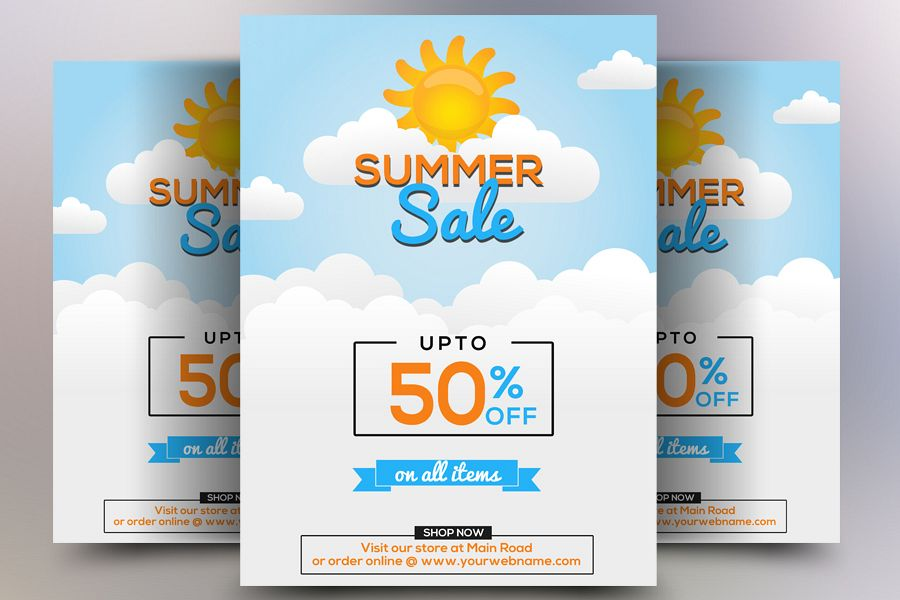 Elegant Summer Sale Flyer example image 1