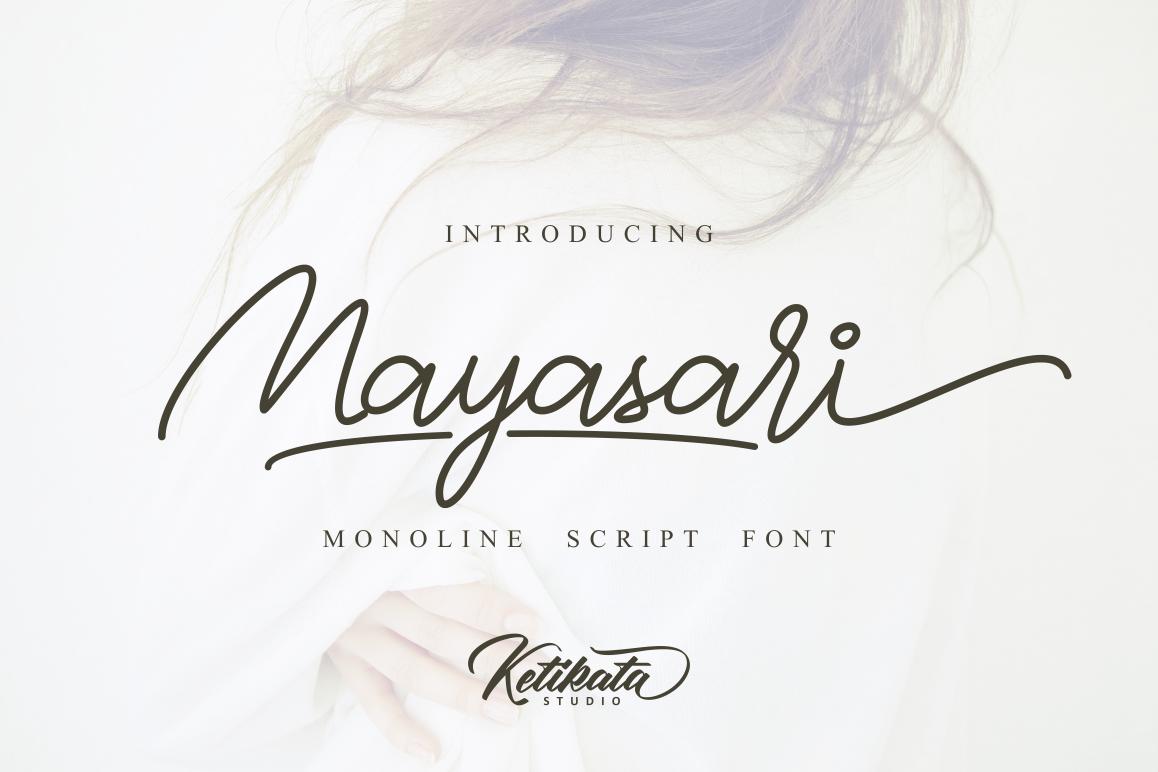 Mayasari Monoline Script example image 1
